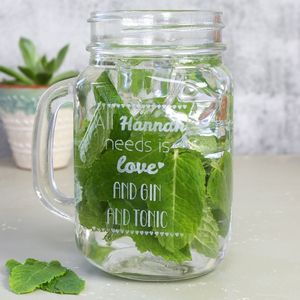 Personalised Engraved 'All You Need Is Love' Mason Jar - view all sale items