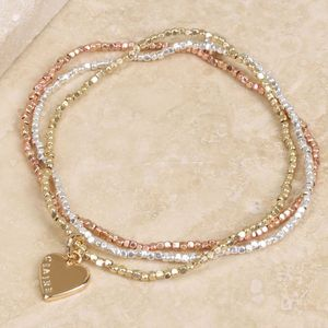 Personalised Mixed Metal Bracelet Set With Name - bracelets & bangles