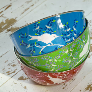 Large Eva Hand Painted Bowl