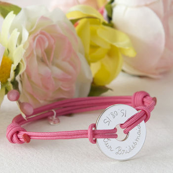 Bridesmaids' Personalised Open Disc Bracelet