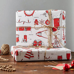Christmas Delights Gift Wrap Pack Of Six