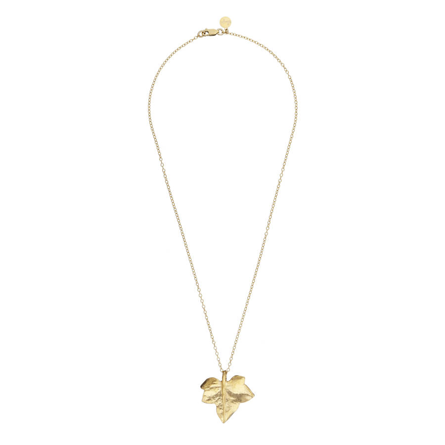 Wild ivy leaf necklace gold by chupi notonthehighstreet wild ivy leaf necklace gold mozeypictures Image collections