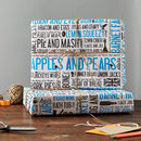 Cockney Rhyming Slang Gift Wrap Pack Of Six