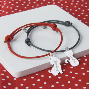 Personalised Dog Or Cat Charm Bracelet - gifts for pet-lovers