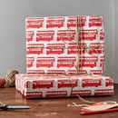 London Bus Gift Wrap Pack Of Ten