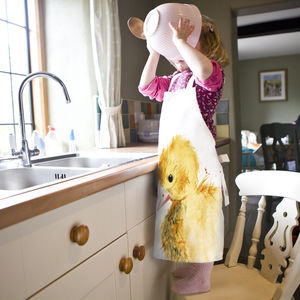 Inky Duckling Child's Apron