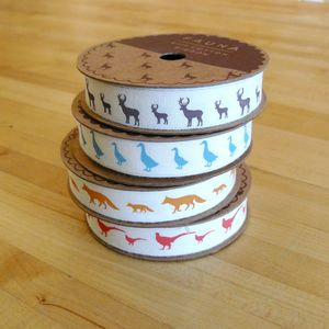 Fauna Motif Cotton Ribbon Per Metre
