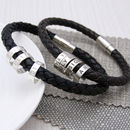 Men's Leather Hoop Bracelet