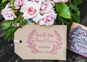 Save The Date Stamp Botanical