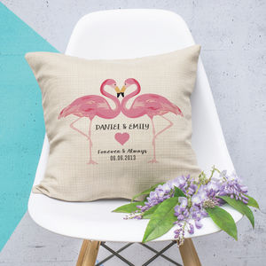Personalised Flamingo Couples Cushion - what's new