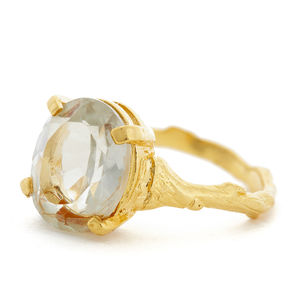 Drop In The Wild Ring With Prasiolite - rings