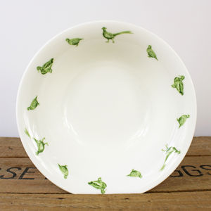 Game Birds Fine Bone China Cereal Bowl
