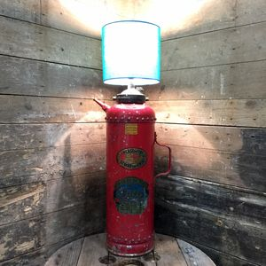 Upcycled 1943 Galvo Extinguisher Lamp **One Only** - table lamps