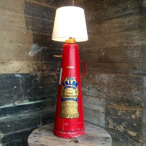 Upcycled 1956 Valor Extinguisher Lamp **One Only** - table & floor lamps