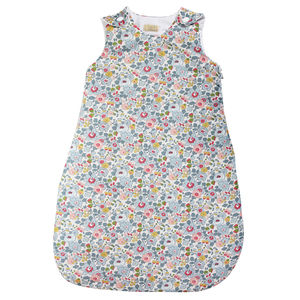 Liberty Print Cotton Baby Sleeping Bag - baby sleeping bags