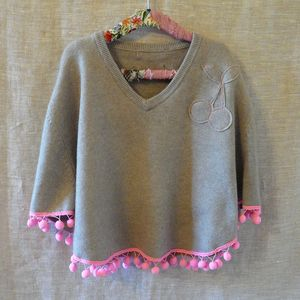 Girl's Cashmere Poncho