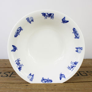 Farm Animals Fine Bone China Cereal Bowl