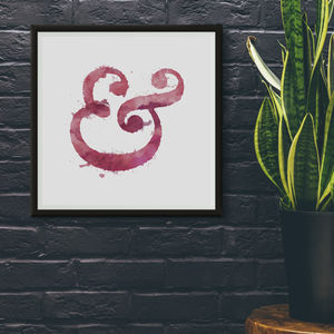 Inky Ampersand Typography Print