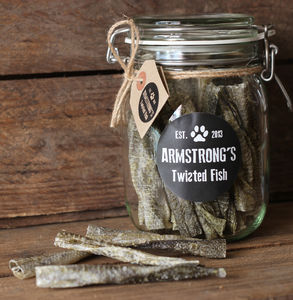 Cod Skin Dog Treats Jar