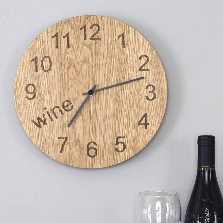 wine o u0026 39 clock clock by james design