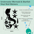 Underwater Mermaid And Starfish Wall Sticker