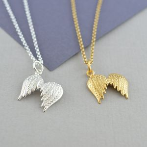 Angel Wings Necklace With Personalised Message - jewellery for women