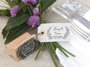 Wedding Favour Stamp Botanical - stamps & ink pads