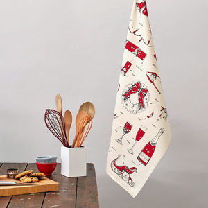 Christmas Delights Tea Towel - christmas parties & entertaining