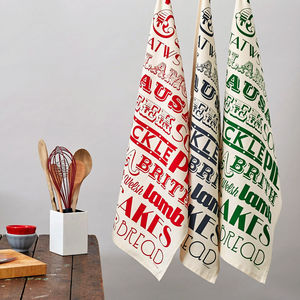 Welsh Dinner Tea Towel