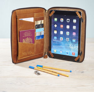 Leather Organiser For iPad - tech accessories for him