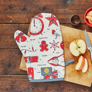 Christmas Delights Oven Mitt - oven gloves & mitts