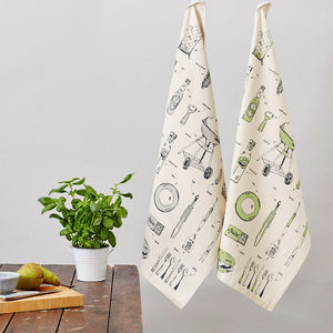 British Barbecue Tea Towel - kitchen accessories