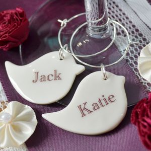 Wedding And Hen Night Personalised Bird Charm - wedding favours