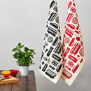 Great British Outline Tea Towel