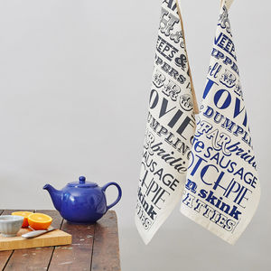 Scottish Dinner Tea Towel - kitchen linen