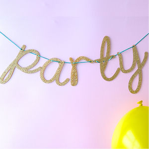 Personalised Alphabet Gold Sparkle Bunting - room decorations