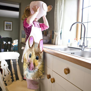 Inky Mouse Child's Apron - kitchen