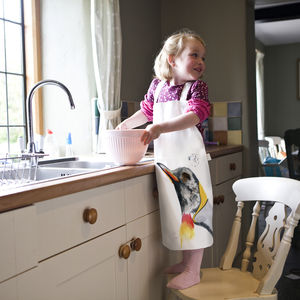 Inky Penguin Child's Apron - kitchen
