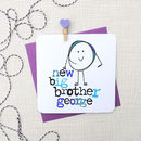 New Big Brother Personalised Baby Card