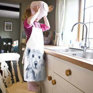 Inky Polar Bear Child's Apron - aprons