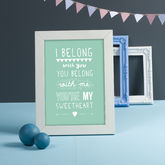 'I Belong With You' Lumineers Print - prints & art
