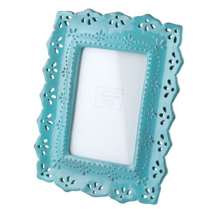 Blue Resin Picture Frame