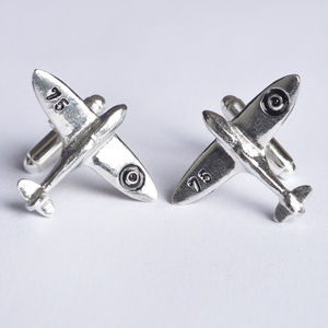 Spitfire Cufflinks, Battle Of Britain 75 Years Edition