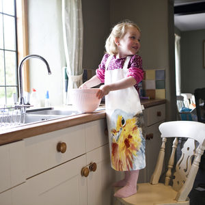 Inky Robin Child's Apron - kitchen