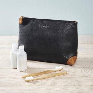 Unisex Leather Wash Bag - travel & luggage