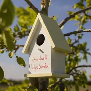 Personalised Bird House - gifts for fathers
