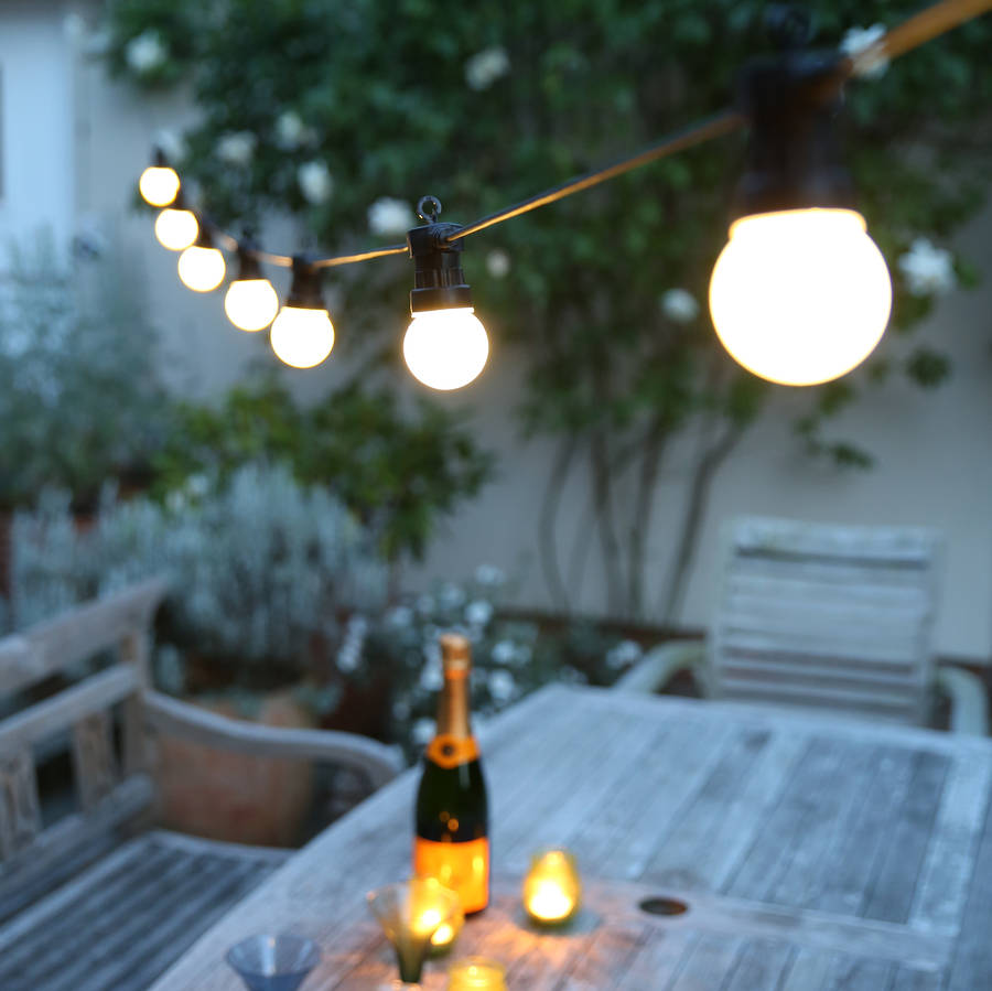 outdoor party festoon lights by red lilly ...