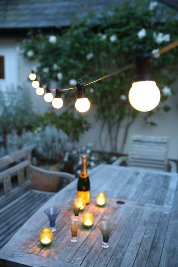 Outdoor Party Festoon Lights By Red Lilly Notonthehighstreet Com & Festoon Lights Outdoor Wedding - Outdoor Lighting
