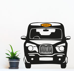 Personalised London Cab Front Wall Sticker - wall stickers