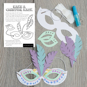 Make Your Own Carnival Mask - toys & games